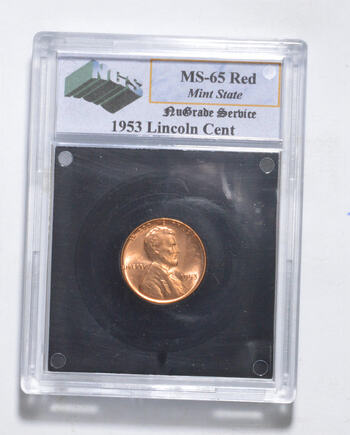 MS65 RD 1953 Lincoln Wheat Cent - Graded NGS