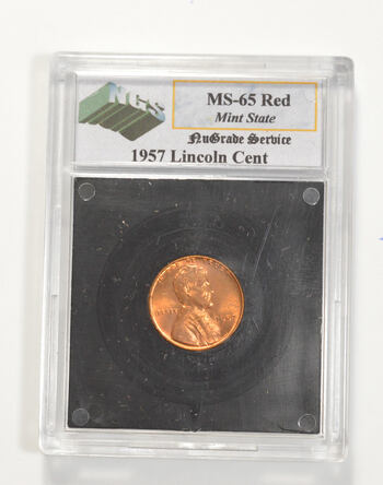 MS65 RD 1957 Lincoln Wheat Cent - Graded NGS