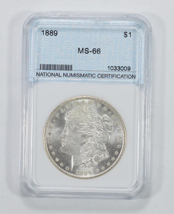 MS-66 1889 Morgan Silver Dollar - Graded NNC