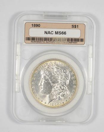 MS66 1890 Morgan Silver Dollar - Graded NAC