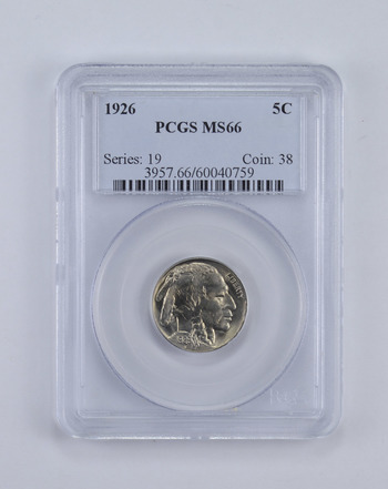 MS66 1926 Indian Head Buffalo Nickel - Graded PCGS