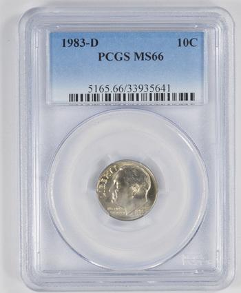 MS66 1983-D Roosevelt Dime - Graded PCGS