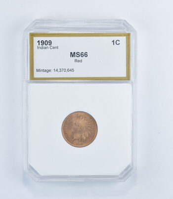 MS66 RD 1909 Indian Head Cent - Graded PCI