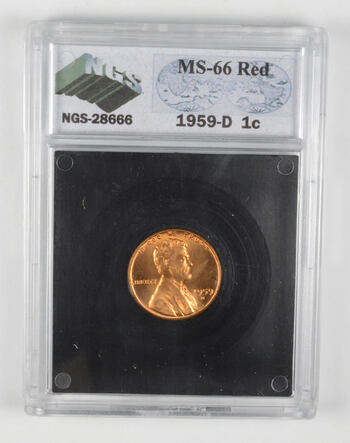 MS66 RD 1959-D Lincoln Memorial Cent - Graded NGS