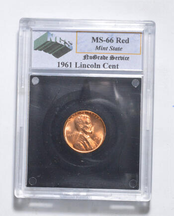 MS66 RD 1961 Lincoln Memorial Cent - Graded NGS