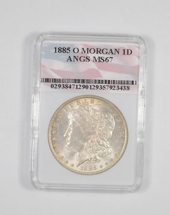 MS67 1885-O Morgan Silver Dollar - Graded ANGS
