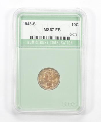 MS67 FB 1943-S Mercury Dime - Graded NTC