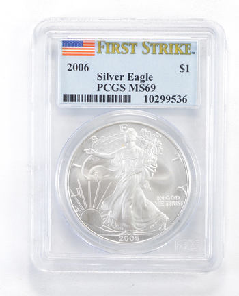 MS69 2006 American Silver Eagle - First Strike - Graded PCGS