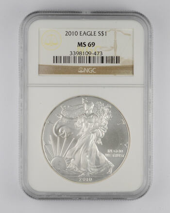MS69 2010 American Silver Eagle - Graded NGC