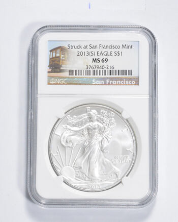 MS69 2013-(S) American Silver Eagle - San Francisco - Graded NGC