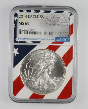 MS69 2014 American Silver Eagle - Graded NGC