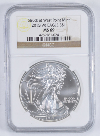 MS69 2015-(W) American Silver Eagle - Graded NGC