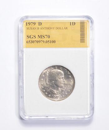 MS70 1979-D Susan B. Anthony Dollar - Graded SGS