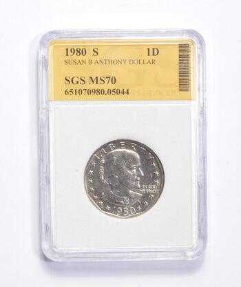 MS70 1980-S Susan B. Anthony Dollar - Graded SGS