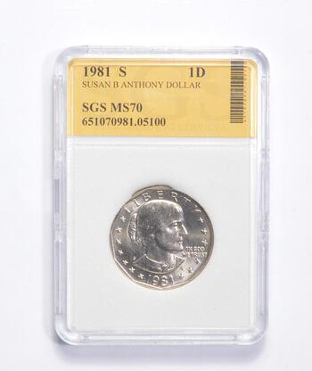 MS70 1981-S Susan B. Anthony Dollar - Graded SGS