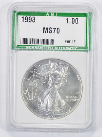 MS70 1993 American Silver Eagle - Graded ANI