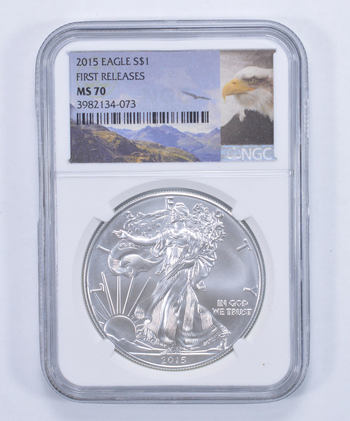 MS-70 1st DAY Release - 2015 American Silver Eagle - NGC Grade - PERFECT