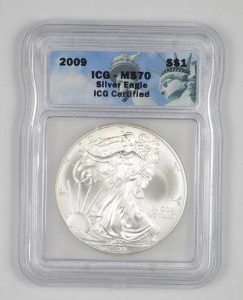 MS70 2009 American Silver Eagle - Graded ICG