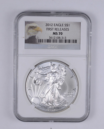 MS-70 - 2012 American Silver Eagle - First Releases - Graded By NGC