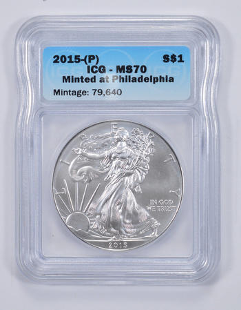 MS70 2015-(P) American Silver Eagle - ICG Graded