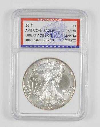 MS70 2017 American Silver Eagle - FDI - Graded IGS