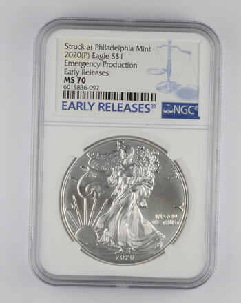 MS70 2020(P) American Silver Eagle - Emergency Production - Early Releases - Graded NGC