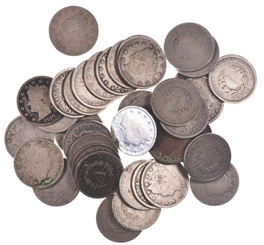 MYSTERY - Full Roll Of Liberty V Nickels - 40 Coins Total