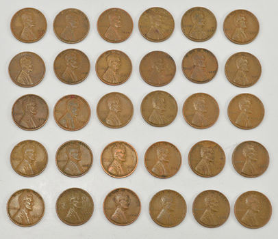 Mystery Lot of 30 1930-1939 Lincoln Wheat Cents