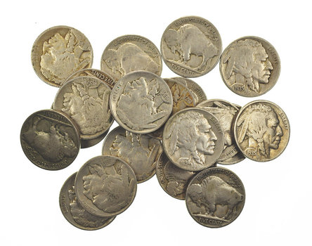 Mystery Lot:20 Assorted Full Date Buffalo Nickels 1913-1938
