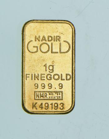 Nadir Gold 1 Gram Fine Gold Bar