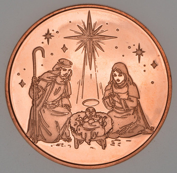 Nativity Christmas - Holiday Series - 1 Oz .999 Fine Copper Round