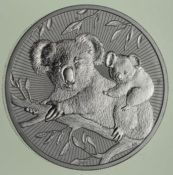 Next Generation - 2018 Australian Koala 2 Dollar 2 Oz. Silver Coin - Two Troy Ounces .9999 Fine Silver
