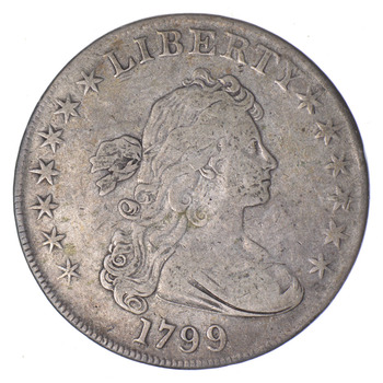 No Reserve - 1799 Draped Bust Silver Dollar - Circulated