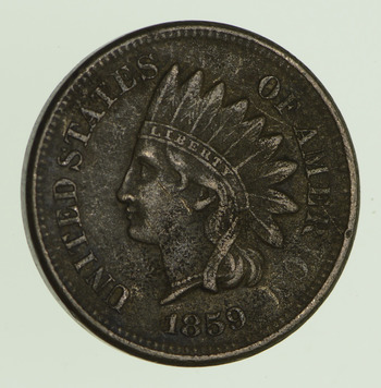 No Reserve - 1859 Indian Head Cent - Circulated