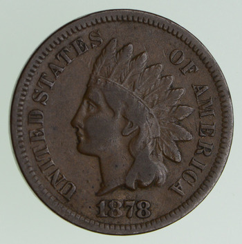 No Reserve - 1878 Indian Head Cent - KEY DATE