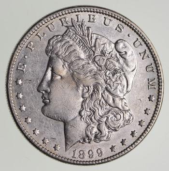No Reserve - 1899 Morgan Silver Dollar - RARE