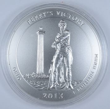 No Reserve - 2013-P Perry's Victory ATB T Oz .999 Fine Silver 5.0 Ounce Coin