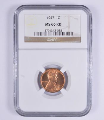 No Reserve - MS66RD 1947 Lincoln Wheat Cent - NGC Graded