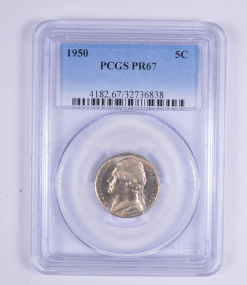 No Reserve - PR67 1950 Jefferson Nickel - PCGS Graded