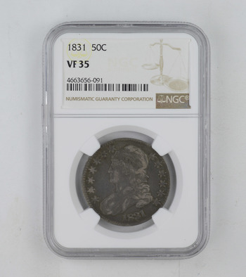 No Reserve - VF35 1831 Capped Bust Half Dollar - NGC Graded