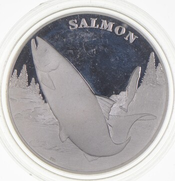 One Ounce .999 Fine SIlver 2003 Salmon Wildlife Refuge US Mint Medal - Rare