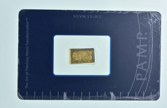 Pamp Suisse 1 Gram Fine Gold Bar - In Original Packaging