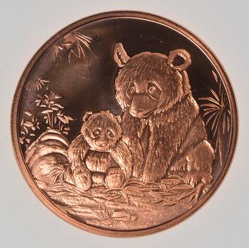 Panda Bear - Copper 1 Oz Round - .999 Fine