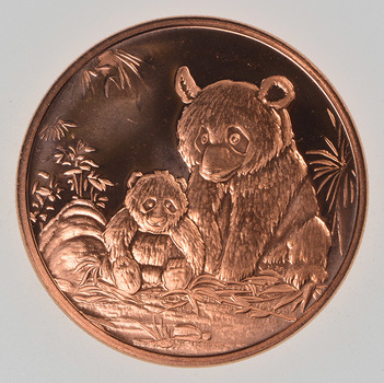 Panda Bear - Copper 1 Oz Round - .999 Fine