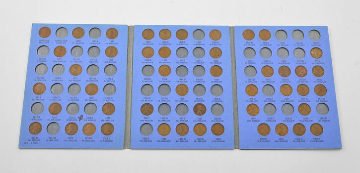 Partial Set 1909-1940 Lincoln Wheat Cent Album - Early Dates Collection