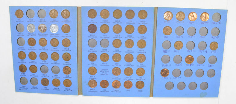 Partial Set Starting 1941 Lincoln Wheat Cent - Great Collection - Coin Lot
