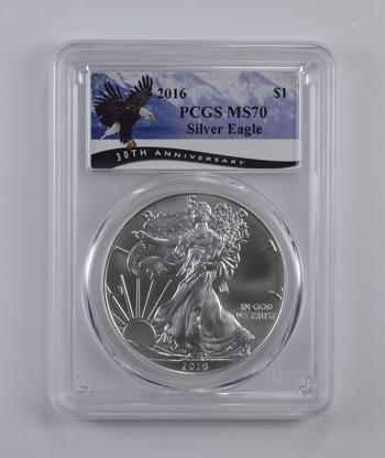 PERFECT - 2016 PCGS MS-70 American Silver Eagle -.999 Fine - PCGS Graded!