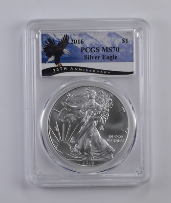 PERFECT - 2016 PCGS MS-70 American Silver Eagle -.999 Fine - PCGS Graded!