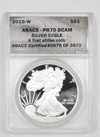 PERFECT PF-70 - 2015-W American Silver Eagle - Graded ANACS