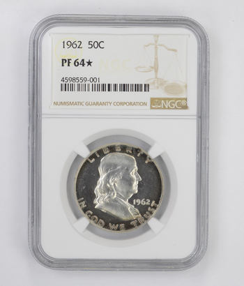 PF64 STAR 1962 Franklin Half Dollar - NGC Graded
